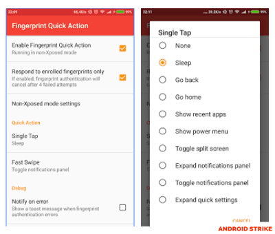 Boost Your Android performance with fingerprint quick actions