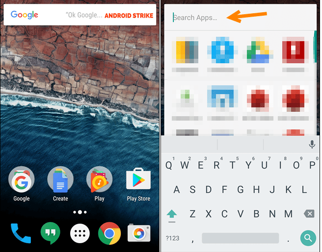 Search For Apps Quickly