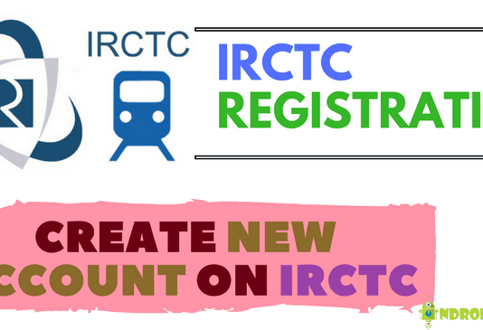 irctc registraion