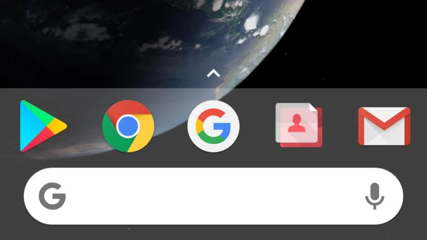 Search bar in the dock