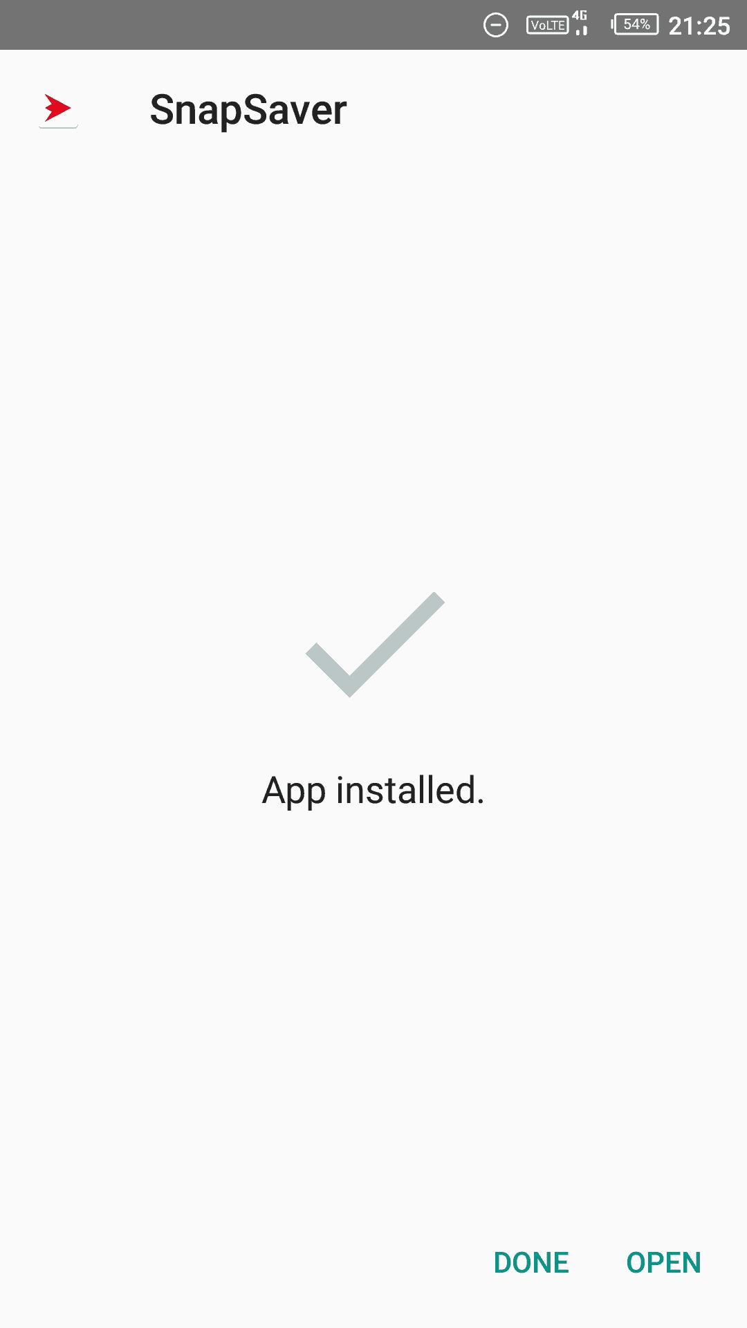 SnapSabe app installation