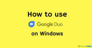 Google Duo for windows