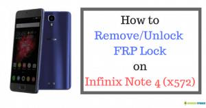 frp unlock on infinix x572 note 4