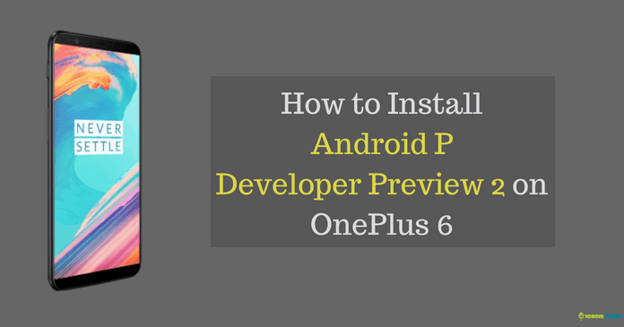 install android P developer preview 2 on oneplus 6 device