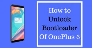 unlock bootloader of oneplus 6