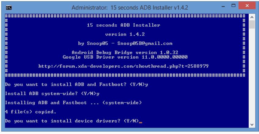 ADB Installer version 1.4.3