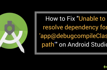 Unable to resolve dependency for 'app@debugcompileClasspath'