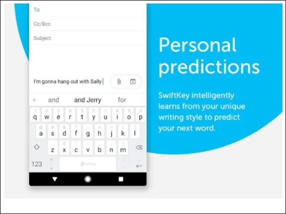 SwiftKey android keyboard app