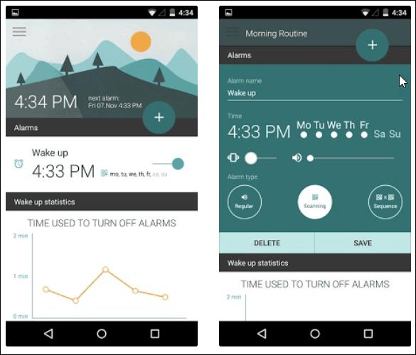 morning routine alarm app