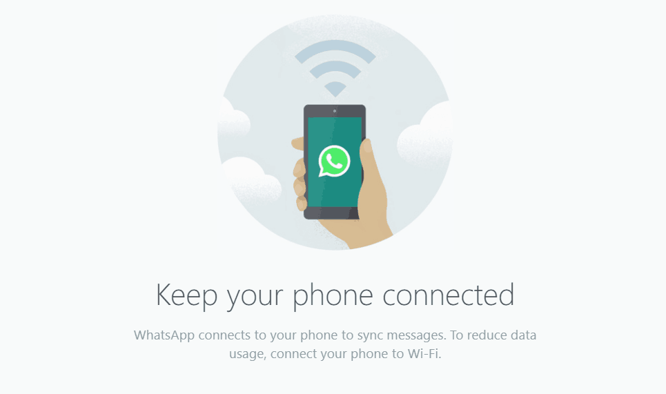 WhatsApp web active internet