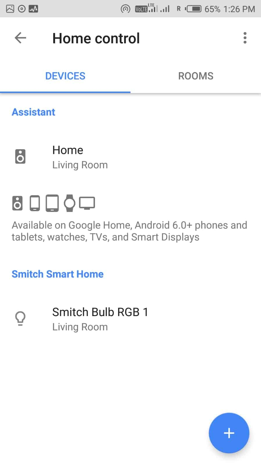 List of Connected smart home control devices in Google assistant