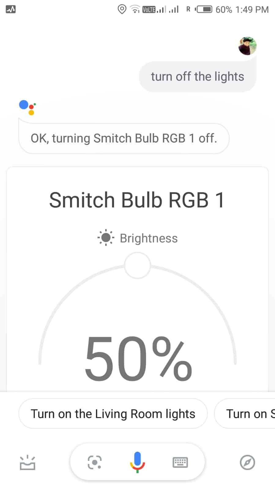 google assistant commands for smitch smart bulb